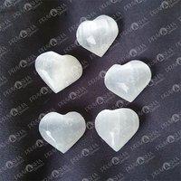 Prayosha Crystals Selenite Heart