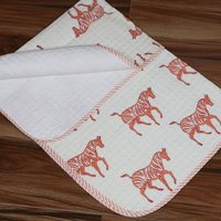 Zebra Handmade Cotton Baby Print Quilts