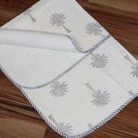 Palm Tree Hand Block Printed Baby Quilts