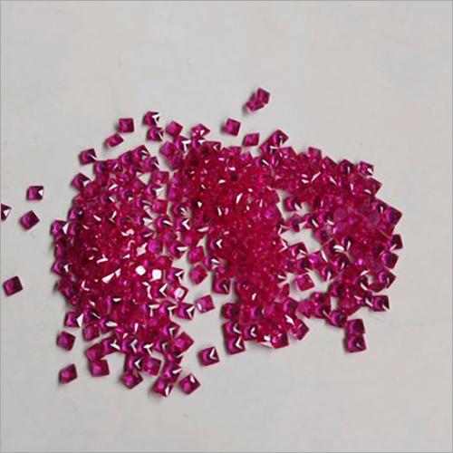 Ruby Square Cut Gemstone