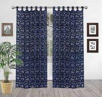 Cotton Handmade  printed curtain
