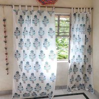 Mughal Butta Hand block print printed curtain