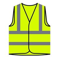 SAFETY JACKET WITH POLICE LABLE
