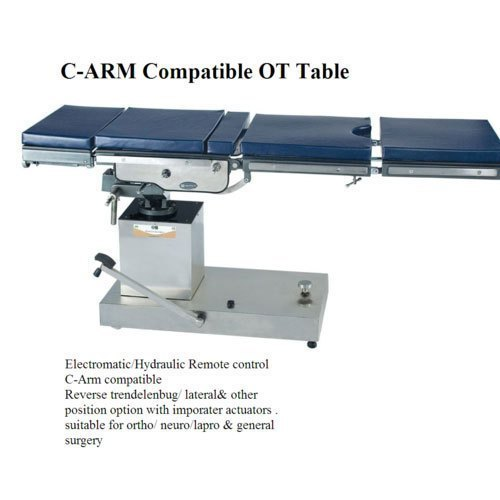 C Arm Compatible Hydraulic Operating Table
