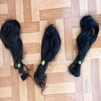 PURE QUALITY UNPROCESSED REMY INDIAN RAW BLACK HAIR EXTENSIONS