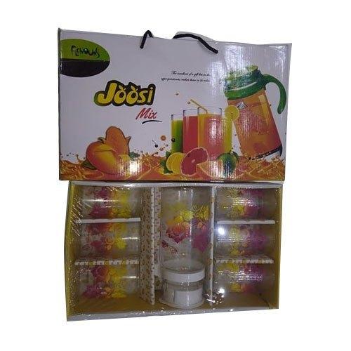 7 Piece Transparent Glass Lemon Set