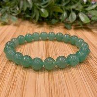 Green Aventurine Bracelet, 8.5 mm Natural Stones