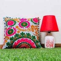 Jaipuri Hand Printed Embroidery Cushion Cover