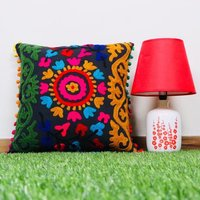 Colorful Embroidered Cushion Cover