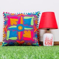 Indian Hand Embroidered Cushion  Cover