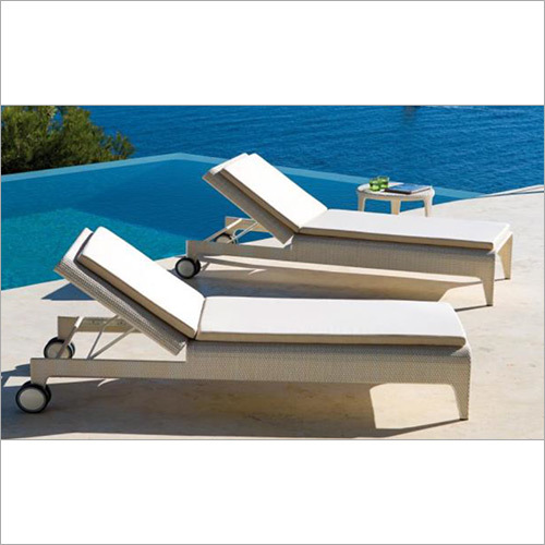Outdoor White Poolside Lounger
