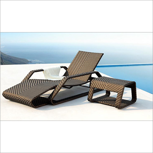 Poolside Lounger With Armrest