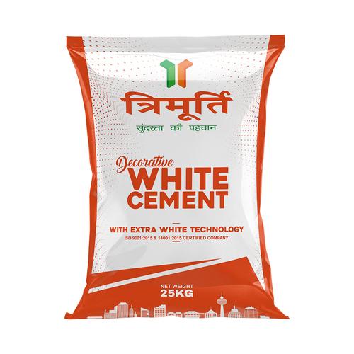 Trimurti 25 Kg Decorative White Cement