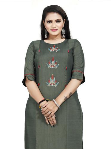 Designer Kurti Mahendi Colour