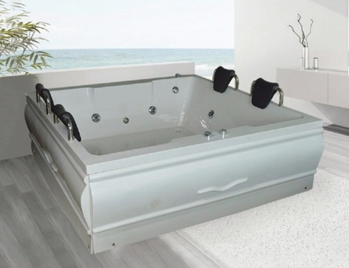 APPOLLO White CHARM 6X6 feet Jacuzzi Bath Tub