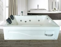 APPOLLO White COMBO 6X4 feet Jacuzzi Bath Tub