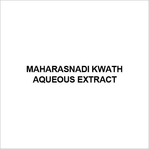 Maharasnadi Kwath Aqueous Extract