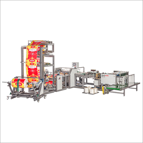 Automatic Woven Fabric Cutting And Stitching Machine With Online Twist Gusset