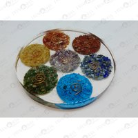 Prayosha Crystals Orgonite Seven Chakra Coasters