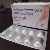 ACECLOFENAC , PARACETAMOL & CHLORZOXAZONE TABLETS
