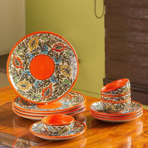 Ceramic Hand Painted Dinner Plates