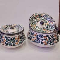 Mugal Painting Ceramic Handi Set