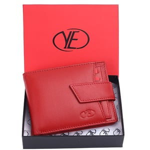 Mens Red Leather Wallet