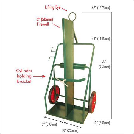 CyT16FL 16 (400MM) Wheels Cylinder Trolley Firewall & Lifting Eye