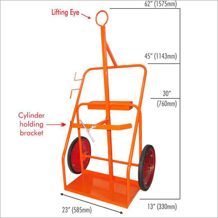 CyT16LE 16 (400MM) Wheels Cylinder Trolley Lifting Eye