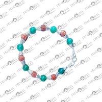 Prayosha Crystals Green Aventurine + Rudraksha Bracelet
