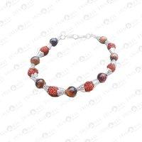Prayosha Crystals Tiger Eye + Rudraksha Bracelet