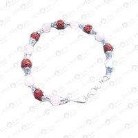 Prayosha Crystals Rose quartz + Rudraksha Bracelet