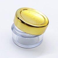 Acrylic Jar or San Jar with Gold Cap