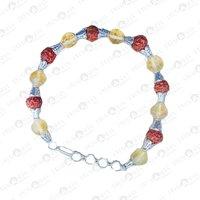 Prayosha Crystals Citrine + Rudraksha Bracelet