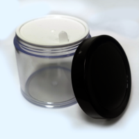 Acrylic Jar or San Jar with Black Cap (100gm)