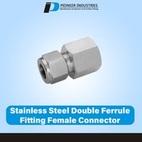 Stainless Steel Double Ferrule Fitting Female Connector