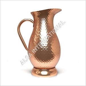 Handcrafted Solid Copper Water Jug
