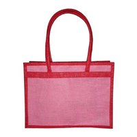 PP Laminated Jute Shopping Bag With Cord Handle