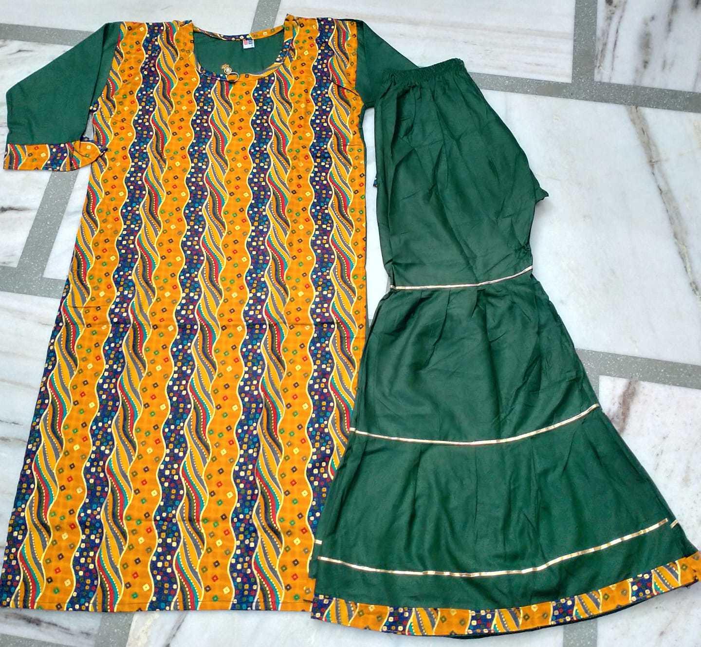 Ladies Designer Print Sharara Suit