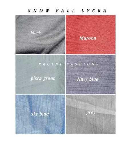 Polyester Snowfall T-shirts Lycra Fabric