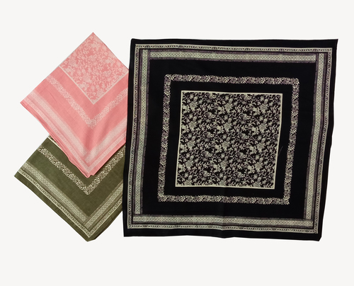 Cotton Printed Square Fancy Bandana