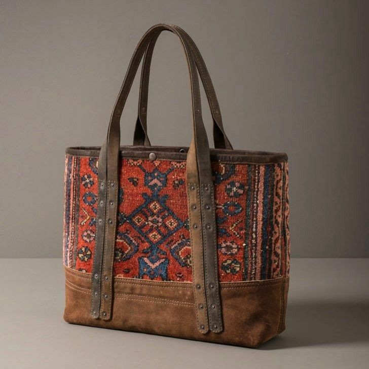 Leather canvas bag