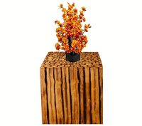 12 Inch Wooden Square Shape Stool