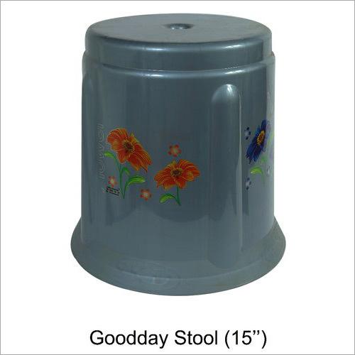 Grey Stool 15 Inch