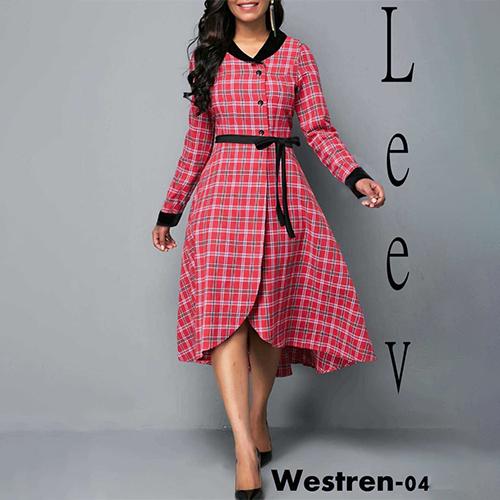 Red Multicolor Dress