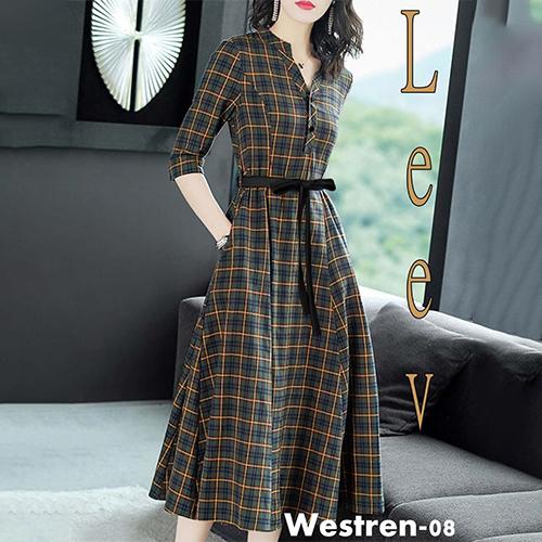 Multicolor Check Dress
