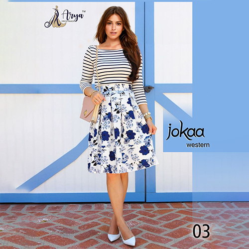 Jokaa Western Rayon T Shirt And Skirt