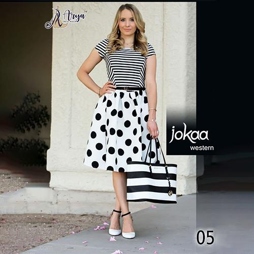 Rayon T Shirt And Skirt Dress