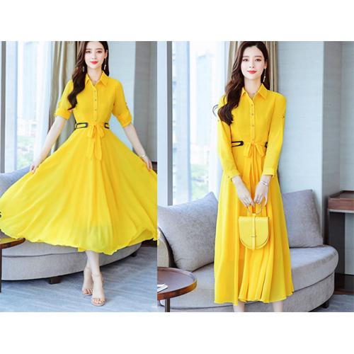 Yellow Korean Dress