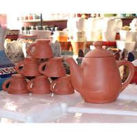 Terracotta Clay Teapot